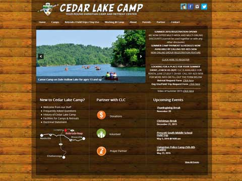 wordpress design for Christian camps