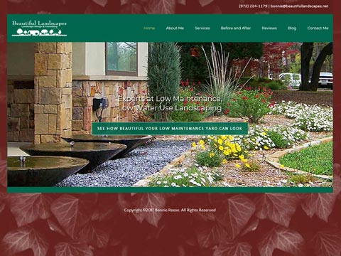 North Dallas website designer for landscapers and garden centers