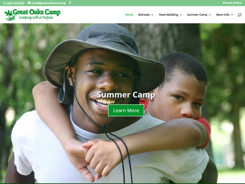 design firm doing websites and graphic design for Christian camps