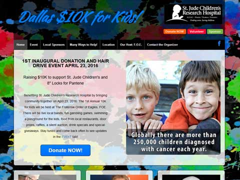Websites for charitable causes in Texas
