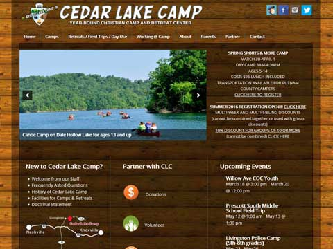 mobile-friendly websites for Christian camps
