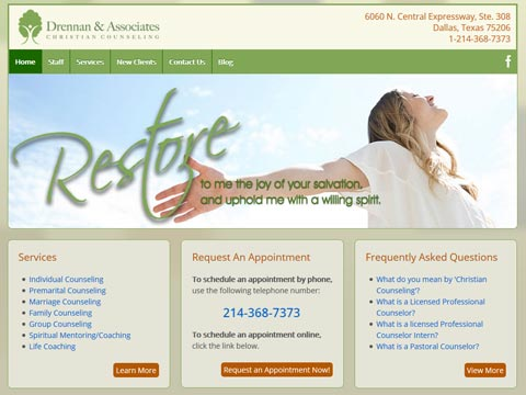 Webmaster in Dallas Texas for clinics, healthcare and counseling