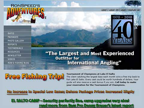 Website design, hosting, and maintenance for fishing guides