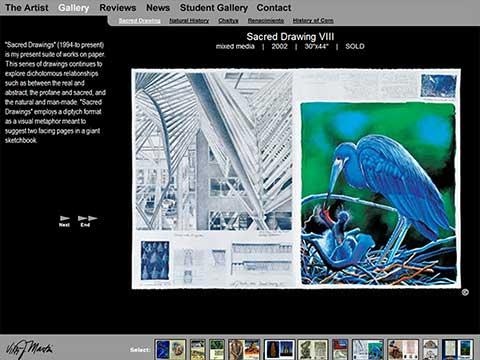 Wordpress website design for fine arts