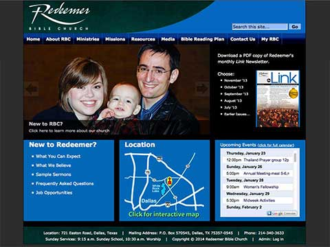 Dallas Seminary grad, Brad Hepp, designs, hosts, and maintains websites for Texas churches and non-profit organizations