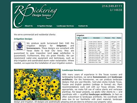 Landscaper websites in Dallas, Texas