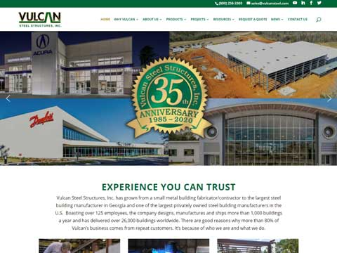 Wordpress websites for manufacturing industry Georgia, Texas