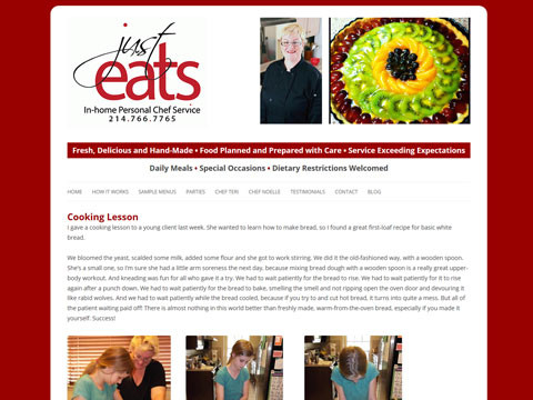 Responsive Wordpress website design for chefs and restaurants