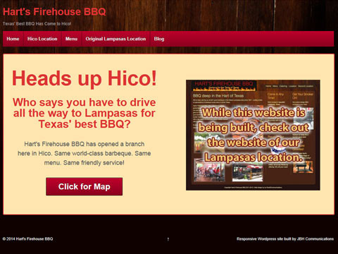 Dallas, Texas website designer using Wordpress