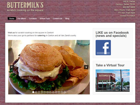 Wordpress website design for restaurants and cafes