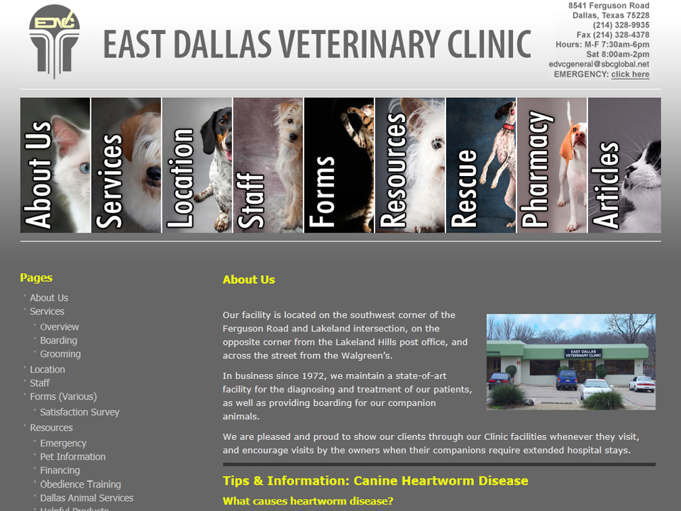 Responsive wordpress web site design for Veterinarians and clinics