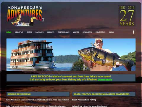 Wordpress website for fishing guide, Ron Speed